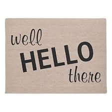 amazon com roman u0027s doormat well hello there funny quote saying