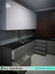 Kitchen Set Aluminium Composite Panel Kitchen Set Tanpa Handle Fokusfurniture Com Kitchen Set Lemari