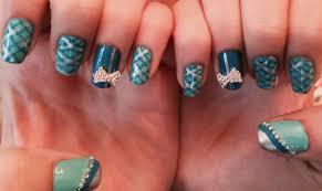 tiffany blue glitzy plaid nails nail art gallery