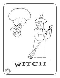 asl witch coloring page printables coloring pages pinterest