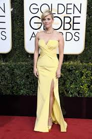 v cut strapless criss cross yellow prom dress reese witherspoon