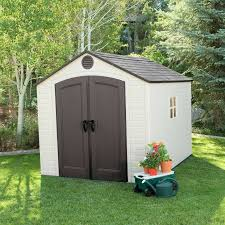 Backyard Shed Kit Lifetime 8x10 Ft Outdoor Storage Shed Kit 6405