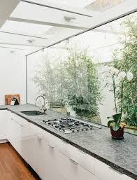 Glass Wall Design by Cooking With Pleasure Modern Kitchen Window Ideas