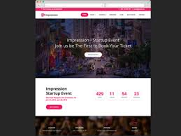 Html Event Template impression free bootstrap html event and conference template by