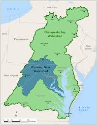 Map Of Rivers Potomac River Basin Atlas Subwatersheds