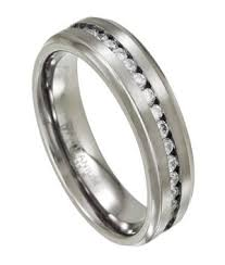 mens eternity rings 7mm men s eternity titanium wedding ring with channel set cubic