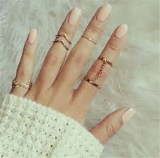 midi ring set 6pcs midi ring set glam shop
