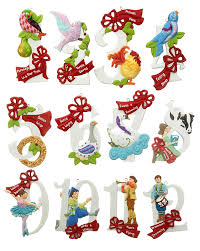 12 days of set of 12 personalized ornament