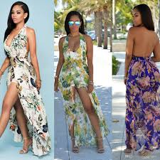 cheap summer dresses 2017 hot bohemian maxi rompers casual summer dresses cheap