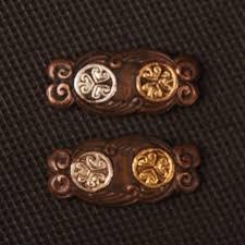 new style sword fittings high grade brass silver plating menuki