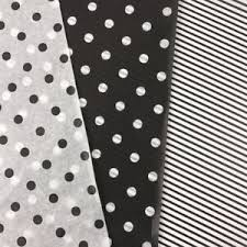 black and white striped tissue paper black white polka dots stripes tissue paper gift wrapping flower