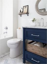 Bathroom Vanity Colors Windsong Tour Basement Pt 1 Navy Cabinets Studio Mcgee And