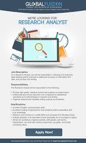 Data Quality Analyst Job Description Research Analyst Job Hiring Pinoyjobs Ph