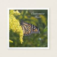 personalized monarch butterfly paper napkin kitchen gifts diy