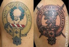 kingdom studio tattoos black and gray family crest tattoos