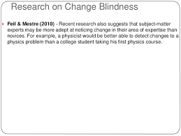 Inattentional Blindness Example Change Blindness