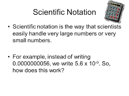 working with scientific notation significant figures and scientific notation math in the science