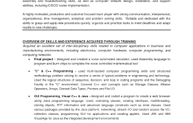 Programming Skills Resume How To Teach Resume Writing Professional Photographer Resume