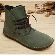 womens boots green leather shop handmade boots genuine leather shoes
