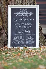 wedding program chalkboard chalkboard wedding picmia