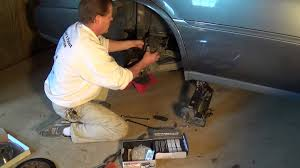 2005 cadillac deville rear brake rotor and pads youtube