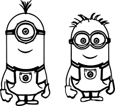 kevin bob despicable me 2 minions coloring page wecoloringpage