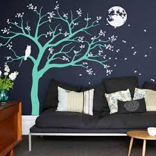 night time tree with moon and owl decal vinyl wall sticker www night time tree with moon and owl decal vinyl wall sticker