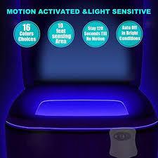 Motion Sensor Bathroom Light 2pk 16 Color Changes Motion Activated Toilet Night Light Motion