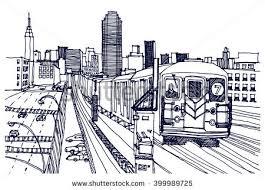 vector the bronx new york skyline download free vector art