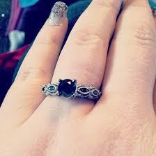 kays black engagement rings black ring 1 1 4 carats tw 10k white gold