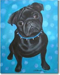 pug prints posters paintings pugs dogbreed gifts