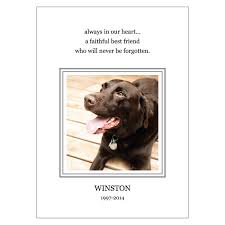 loss of pet personalized pet loss announcement personalized pooch