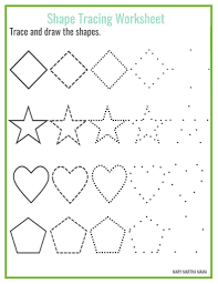 worksheet shape tracing sheets wosenly free worksheet
