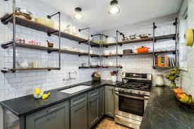 étagère en fer forgé pour cuisine cuisine bois et fer comptoir de cuisine en bois noyer