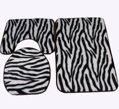 Zebra Bath Rug Bathroom Rug Set Bathroom Ideas Pinterest Bathroom