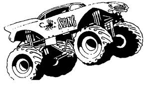 monster truck sting monster jam coloring pages color luna
