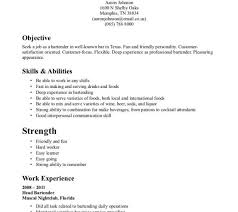 Example Bartender Resume by Good Bartender Resume Objective Server Resumes Objective Virtren