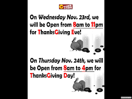we will be closed on thanksgiving day rkdg