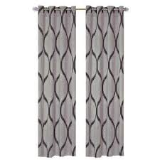 Grey Metallic Curtains Gray Floral Curtains Drapes Window Treatments The Home Depot