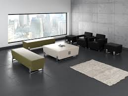 ofm axis triple bench with chrome frame 4003c reception