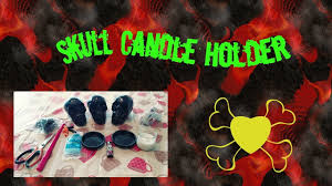 halloween candlestick holders diy halloween skull candle holder pintrest inspired youtube