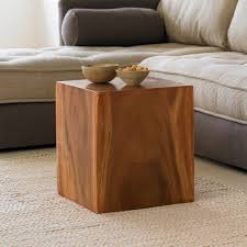 wood cube end table convertible wood cube accent tables vivaterra