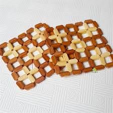 10 Pcs Wood Placemat Heat Resistant Mat Kitchen Accessories Mat Disc