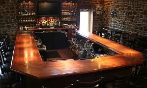 Bar Counter Top Wood Countertops Mahogany Wood Bar Top With Drink Rail And