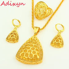 pendant necklace earring images New arrival ethiopian jewelry set pendant necklace earring ring jpg