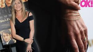 aniston wedding ring aniston seen for the time since nuptials see