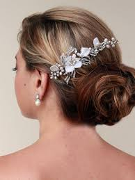 wedding hair flowers haircomesthebride bridal hair pinterest