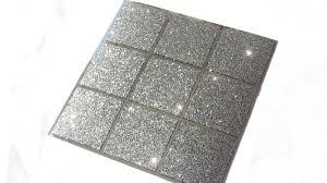 glitter black silver mirror mosaic tile stickers transfers