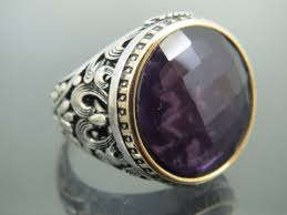 amethyst stone rings images Turkish handmade jewelry 925 sterling silver amethyst stone men 39 s png