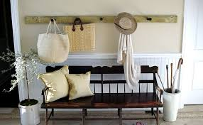 White Entryway Bench With Coat Hooks Bench Decoration